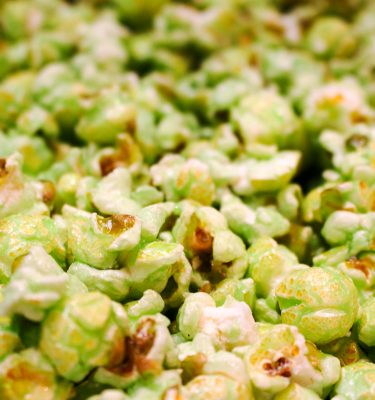 Green Apple Flavor Popcorn