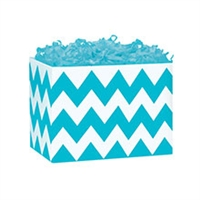 Turquoise Chevron Gift Box