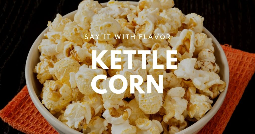 Kettle corn popcorn in a bowl