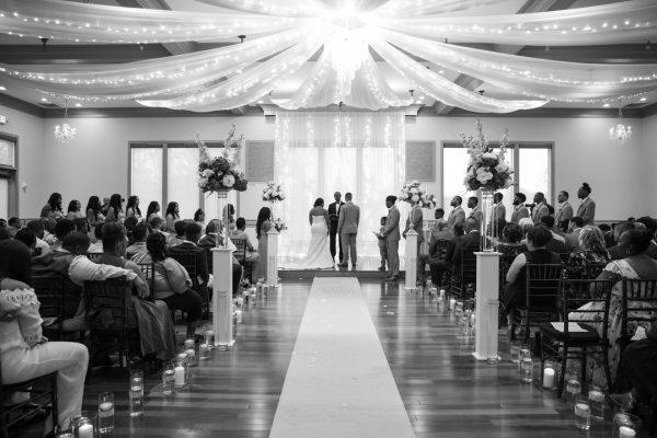 Burrage sharing wedding vows