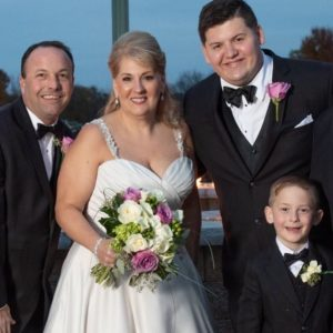 Colleen Gallagher wedding photo with family