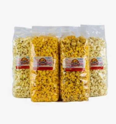 9 cups bags of Chicagoland popcorn