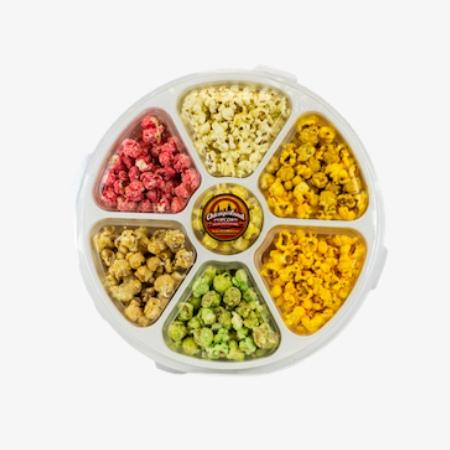 7 flavor popcorn sampler tray